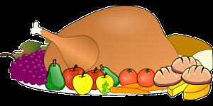Ein Festmahl, Bild eines Truthahnes