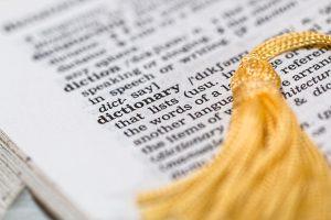 Eine Seite im Wörterbuch